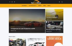 Car Auto Driver example of website background