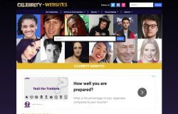Celebrity Websites example of website background
